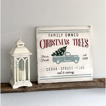 Rustic Christmas Holiday Wood Sign