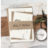 Rustic Crest Invitation, Rustic, Greenery Antlers-Wedding Invitation Suite-Love of Creating Design Co.