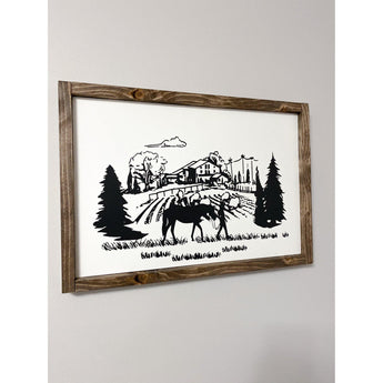 Country Horse Girl Wood Sign