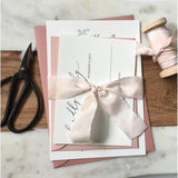 Blush Pink, Modern Wedding Invitation
