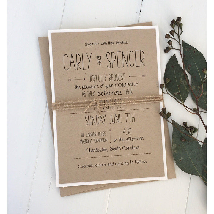 Modern Rustic Typography-Wedding Invitation Suite-Love of Creating Design Co.