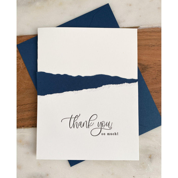 Thank You So Much Letterpress Greeting Card