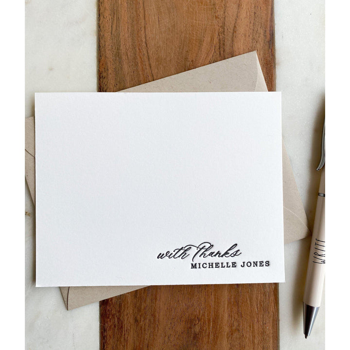 Letterpress Personalized Stationery