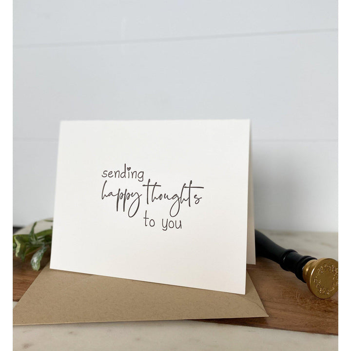 Sending Happy Thoughts To You | Greeting Card