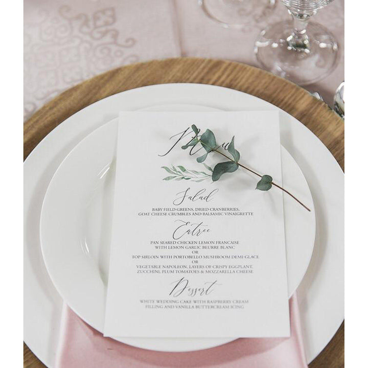 Rustic Simple Menu, Modern Greenery