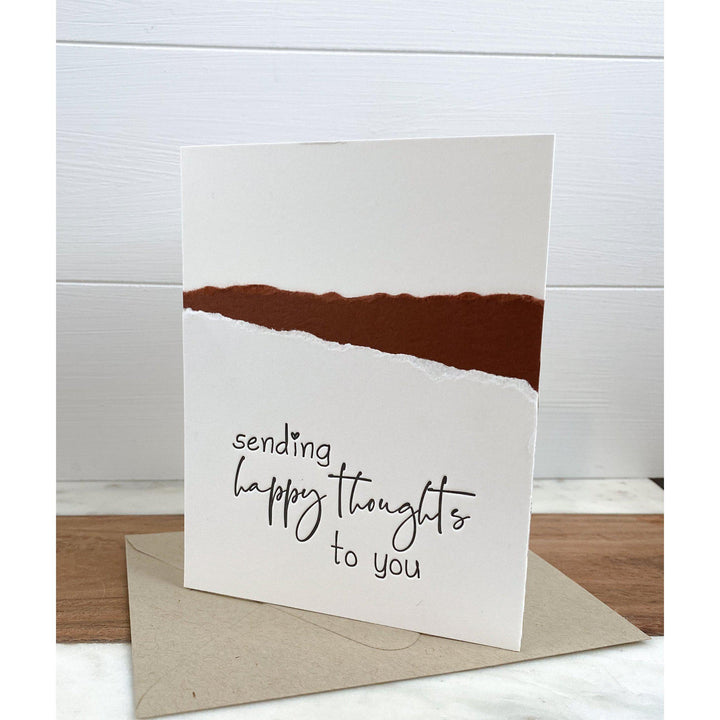 Sending Happy Thoughts To You Letterpress Greeting Card