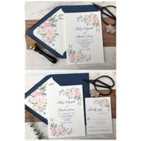 Blush Pink Floral Wedding Invitation