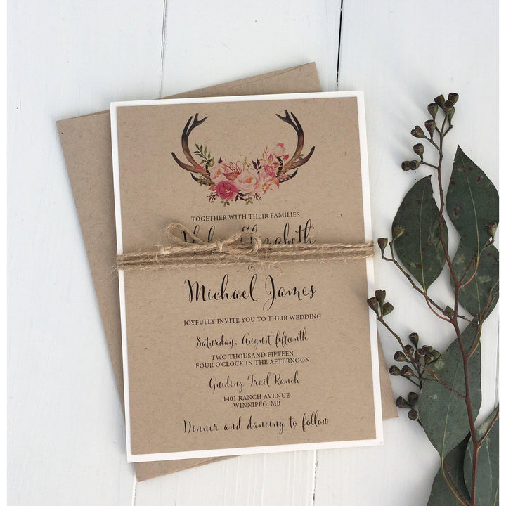 The Hunt is Over-Wedding Invitation Suite-Love of Creating Design Co.