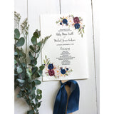 Floral Wedding Program Fan-Programs-Love of Creating Design Co.