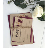 burgundy wedding invitation, marsala flowers, marsala wedding, floral invitation,