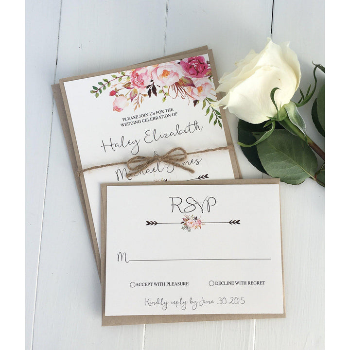The Vanessa Suite | Twine-Wedding Invitation Suite-Love of Creating Design Co.