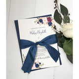 Navy Marsala Elegance-Wedding Invitation Suite-Love of Creating Design Co.