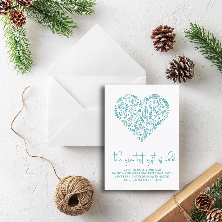 Letterpress Holiday Christmas Card, The Greatest Gift of All