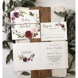 Rustic Boho Chic Floral Wedding Invitation