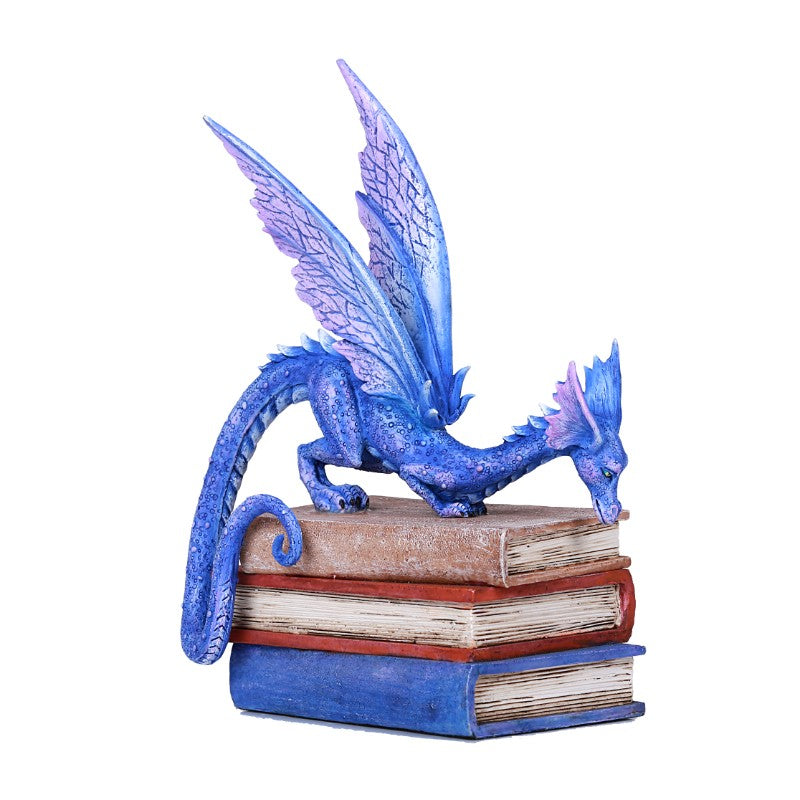 Stack of Books Dragon Statue - Gemwaith