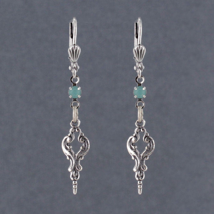 Victorian Style Swarovski SP Earrings - Gemwaith