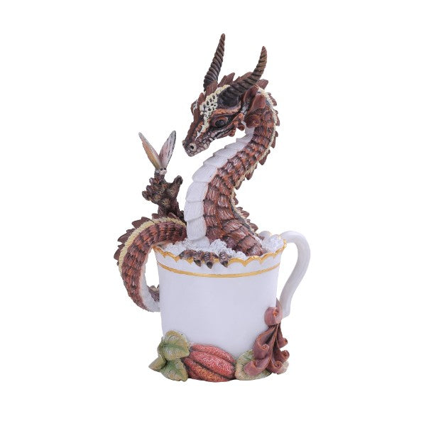 Hot Chocolate Dragon Resin Figurine by Stanley Morrison - Gemwaith