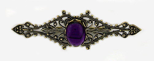 Vintage Inspired Filigree Bar Pin - Gemwaith