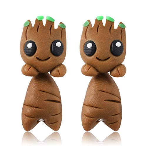 Handmade Polymer Clay Groot Stud Earrings - 100% Handmade Polymer Clay