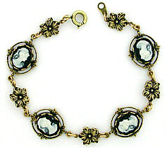 Vintage Inspired Victorian Style Cameo Bracelet - Gemwaith