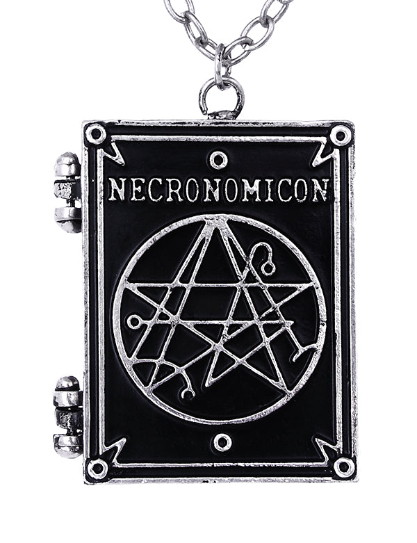 """Necronomicon Book"" Locket Pendant - Gemwaith"