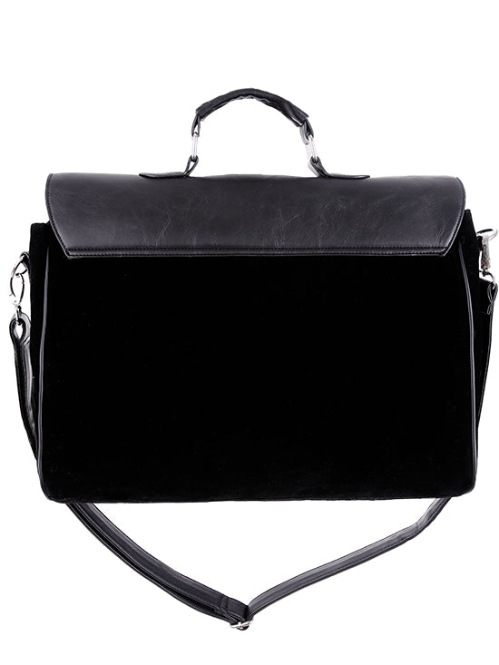 """MAGIC BAT"" Black Gothic Satchel A4 Briefcase - Gemwaith"