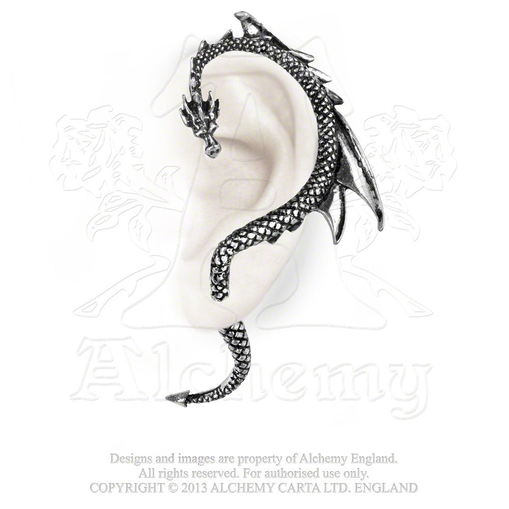 Alchemy The Dragon's Lure Stud Earring - Gemwaith