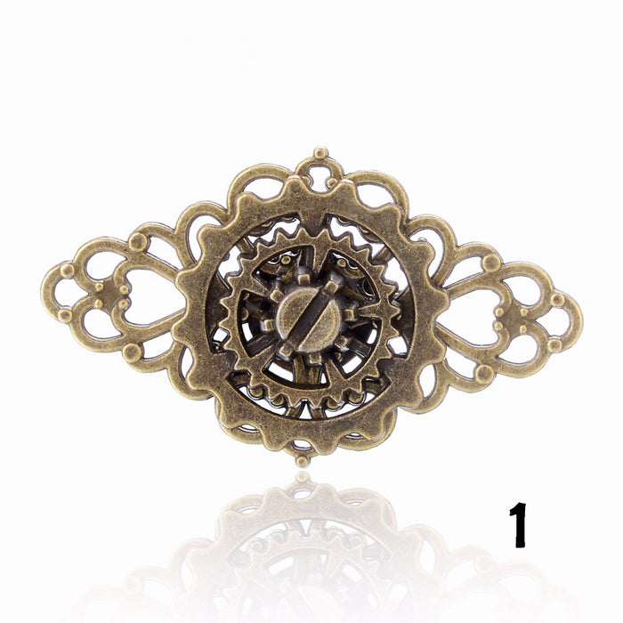Steampunk 3 Gear Triangle Adjustable Ring - Gemwaith