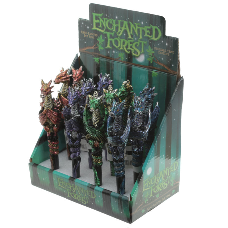 Enchanted Forest Dragon Pens 16cm - Gemwaith