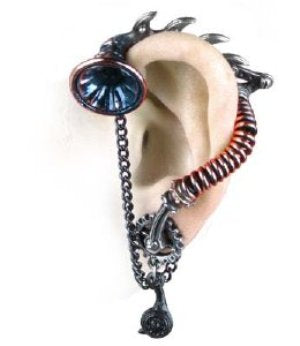 Alchemy His Master's Voice Ear-Trumpet Stud Earring - Gemwaith