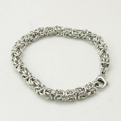 304L Stainless Steel Byzantine Chainmaille Bracelet - Gemwaith