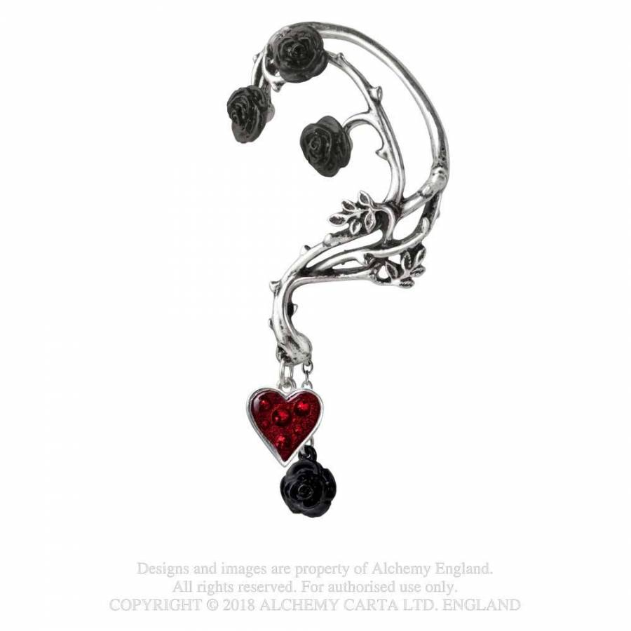 Alchemy Bed of Blood Roses Ear Wrap Earring - Gemwaith
