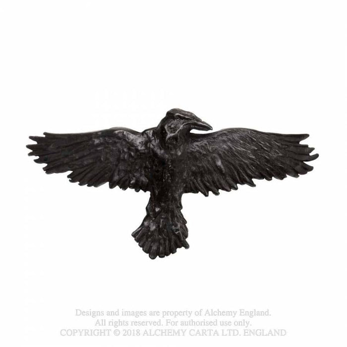 Alchemy Black Raven Hair Slide - Gemwaith