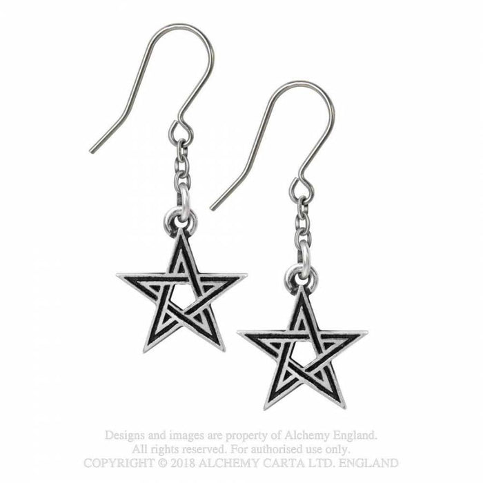 Alchemy Black Star Earrings - Gemwaith