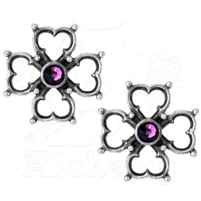 Alchemy Elizabethan Cross Earrings - Pair - Gemwaith