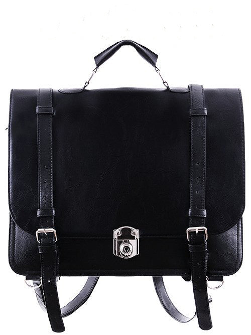 """CLASSIC MESSENGER"" Black Bag & Backpack - Gemwaith"