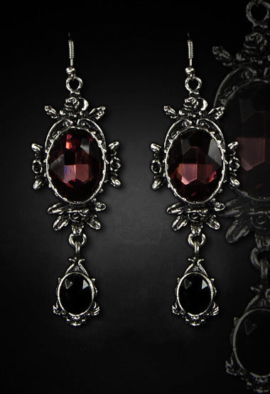 """WILD ROSES"" Evening Earrings - Gemwaith"