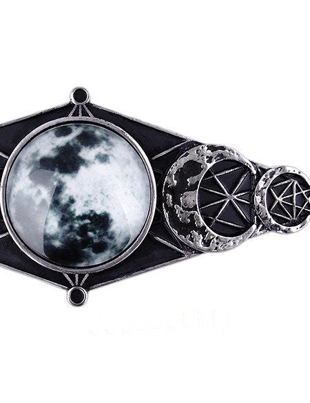 """MOON GEOMETRY HAIR CLIP"" Hair Barrette - Gemwaith"