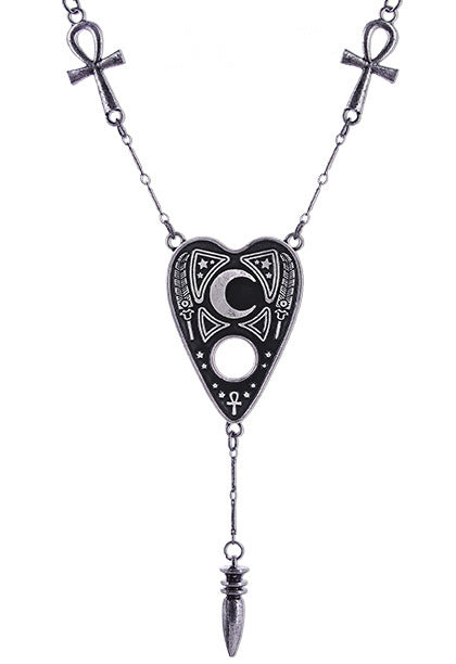 """OUIJA NECKLACE"" Spirit Board Cursor, Ankh Cross, Karnak Pendulum - Gemwaith"