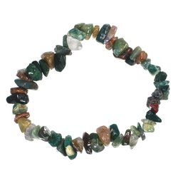 Fancy Jasper Gemstone Chip Bracelet - Gemwaith