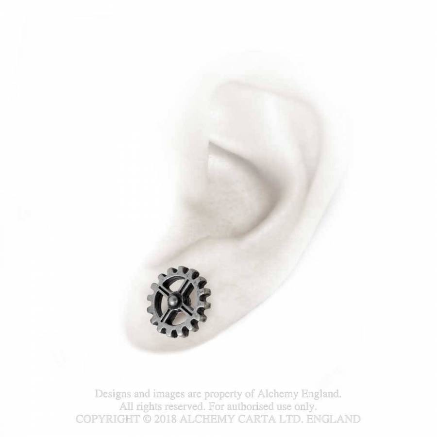 Alchemy Industrilobe Stud Earrings- Pair - Gemwaith