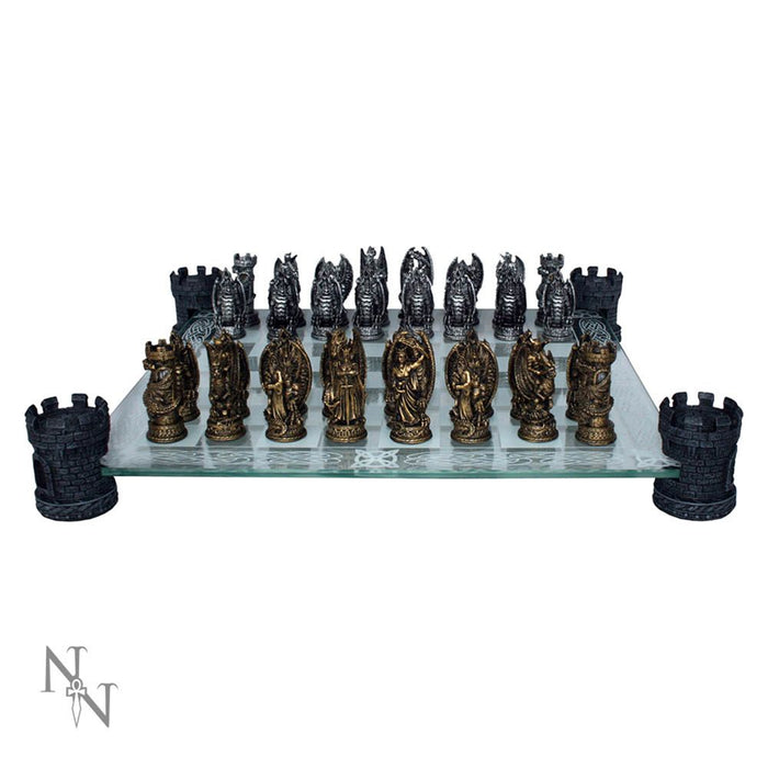 Kingdom Of The Dragon Chess Set 43cm - Gemwaith