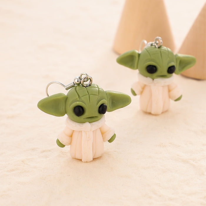 Baby Yoda Earrings - 100% Handmade Polymer Clay
