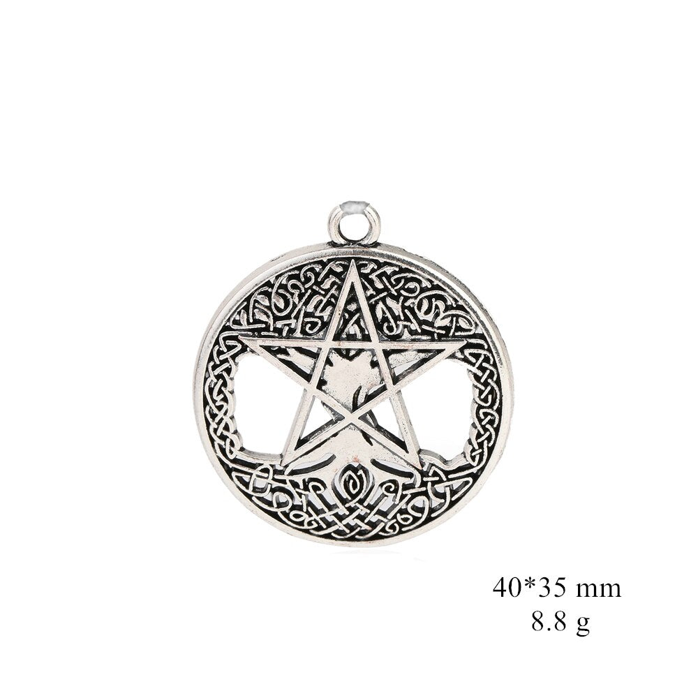 Pentacle Tree of Life Yggdrasil Wicca Pendant - Gemwaith
