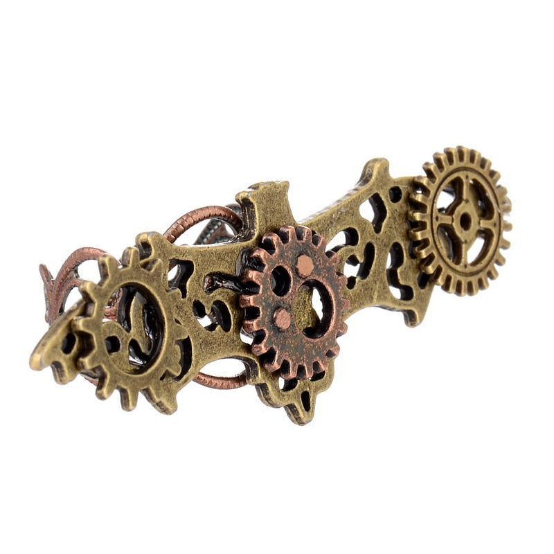 Steampunk Bat With Gears Adjustable Ring - Gemwaith