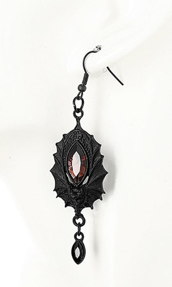 Black Bat Earrings - Gemwaith
