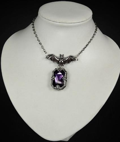 Night Whisper Bat Pendant - Gemwaith