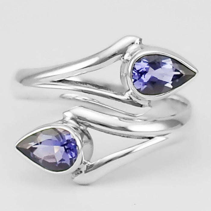 Iolite 925 Sterling Silver Ring - Gemwaith