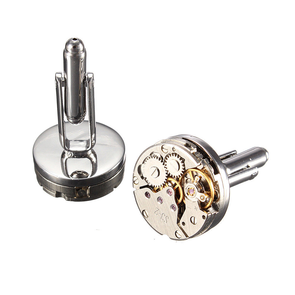 Steampunk Watch Movement Cufflinks - Gemwaith