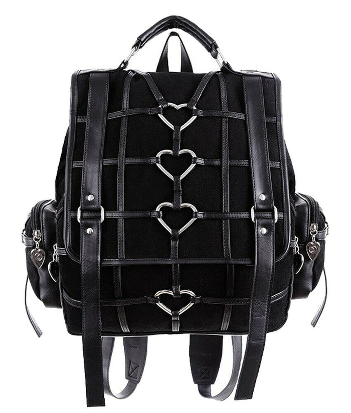 Gothic Heavy Heart Square Backpack